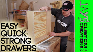 Building Kitchen Cabinet Boxes Strong Quick Drawer Construction 126 Youtube