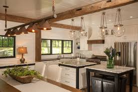 Beach House Light Fixtures by Statuary Marble For A Contemporary Kitchen With A White Pendant
