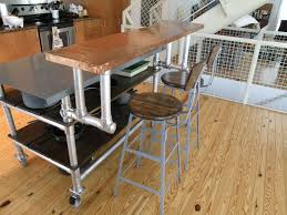 homemade kitchen island cart on wheels with breakfast bar counter
