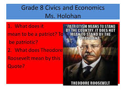 Grade   Civics and Economics Ms  Holohan   What does it mean to be