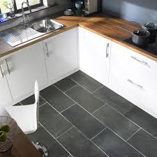 cool black leather floor cover combined white kitchen cabinets and