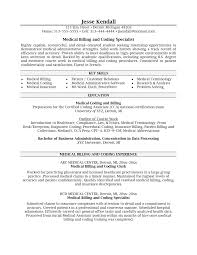 Recruiting Resume Examples by Medical Insurance Billing And Coding Resume Samples Entry Level