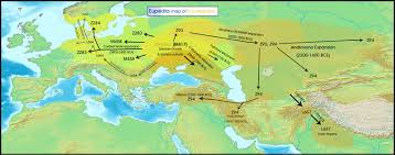 Show Map Of Europe by Maps Of Neolithic Bronze Age U0026 Iron Age Migrations In Europe And
