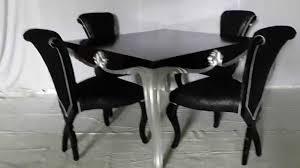 black and silver dining set vixidesign com youtube