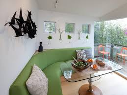 dining room green l shade dining banquette with glass table and