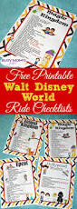 Printable Map Of Disney World Free Printable Walt Disney World Ride Checklists Busy Moms Helper