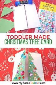 toddler made christmas tree card christmas tree craft and xmas