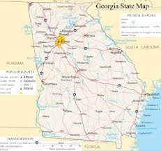 Large Map Of Usa by Georgia State Map A Large Detailed Map Of Georgia State Usa