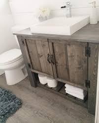 How To Choose A Bathroom Vanity by I U0027m Liking The Rustic Vanity Here Hmmm Too Much U2026 Pinteres U2026