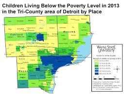 Detroit Michigan Map by Detroit Poverty