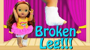 baby alive broken leg darci u0027s dance class ballerina u0026 hip hop