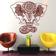 online get cheap india wall decals aliexpress com alibaba group free shiping diy wallpaper belive wall decals india mandala elephant decals buddha om vinyl mural bedroom