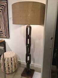 chainlink rustic wood floor lamp mecox gardens