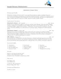 Sample Resume For Admin Assistant by Baffling Examples Of Personal Profile Statements With Sales