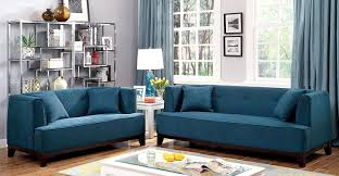 Teal Livingroom by Amazon Com Furniture Of America Elsa Neo Retro Sofa Teal