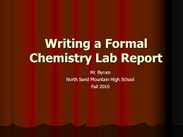 How to write a chemistry lab report for ib