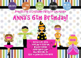 birthday costume party invitations