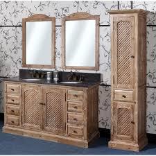 antique wk series 60 inch rustic double sink bathroom vanity