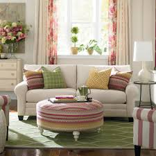 Floral Couches Living Room Chic Living Room Idea Using Cozy White Sofa And Round