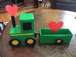 John Deere Kids Room Decor by John Deere Tractor With Trailer Valentines Day Card Box Holiday