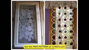 crochet curtain pattern youtube
