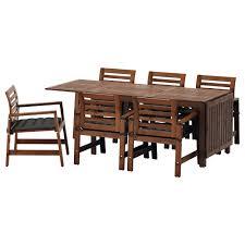ApplarO ikea ikea ApplarO table 6 chairs w armrests outdoor