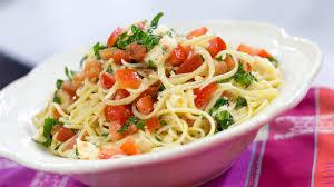 Pasta Recipes Katherine Heigl U0027s Brie Tomato Pasta Today Com