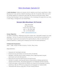 Sample Resume Objectives For Web Developer by Objective Web Developer Resume Objective