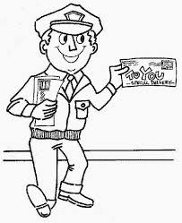 postman coloring pages coloring pages kids