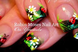 Robin Moses Nail Art by Diy Ladybug Nails Easy Summer Nail Art Design Tutorial Youtube