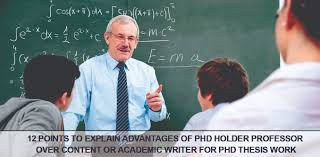 PhD Thesis Writing Services in India Mumbai Pune Delhi Chennai Words Doctorate points to explain advantages of PhD holder professor over content or academic     ASB Th  ringen