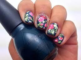 nails by celine floral nail art u0026 tutorial