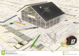 House Architectural House Architectural Drawing And Layout Stock Photo Image 67887690