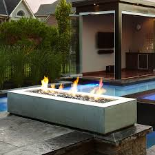 Fire Pit Pad by Paloform Robata Modern Rectangular Concrete Outdoor Fire Pit