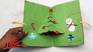 diy christmas pop up card how to make project for kids