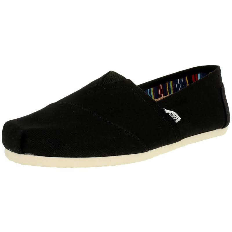 Toms Alpargata Canvas Black Ankle-High Flat Shoe 13M