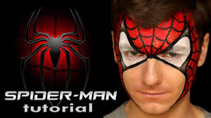 amazing spider man u2014 makeup u0026 face painting for kids youtube