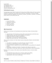 Resume For Nanny Job by Professional Animal Shelter Volunteer Templates To Showcase Your