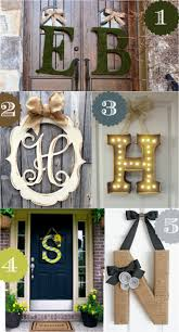 Metal Decorative Letters Home Decor 36 Creative Front Door Decor Ideas Not A Wreath Home Stories A