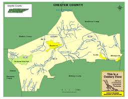 State Of Tennessee Map by Chester County Tennessee Century Farms