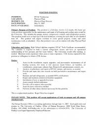 On Campus Job Resume by 9 Cv For Hvac Technician Resume Entry Level Hvac Technician Resume