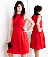 czerwona sukienka na święta
