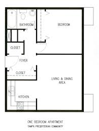 Single Bedroom Apartment Floor Plans by One Bedroom Apartments Tampa