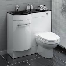 Bathroom Combined Vanity Units by Luxury Bathroom Furniture Design With White Stained Wooden Vanity