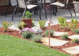 Patio Accents by Herb Garden In A Terracotta Pot Flagstone Stepping Stones
