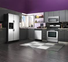 Kitchen Wall Pictures Beautiful Kitchen Designs In Purple Color Enticing Purple