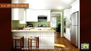 Kitchen Cabinets White Shaker Ice White Shaker Kitchen Cabinets By Kitchen Cabinet Kings Youtube