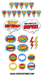 happy halloween banner free printable free superhero pary printables