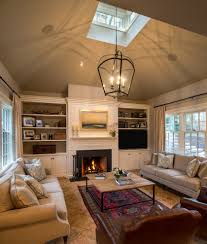 built ins around fireplace family room traditional with black