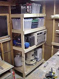 Build Wood Garage Shelves by Building A Cheap And Sturdy Garage Shelf Unit Using Exposed Wall